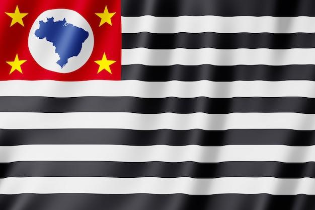 Bandiera dello stato di sao paulo in brasile Foto Premium