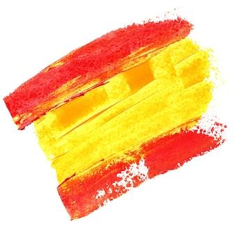 Bandiera della spagna con vernice