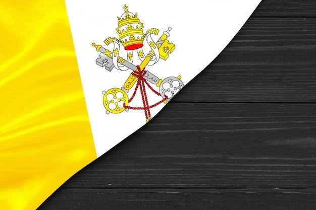 Bandiera del luogo del vaticano per il testo far fronte allo spazio Foto Premium