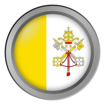 Bandiera del vaticano rotonda come un bottone