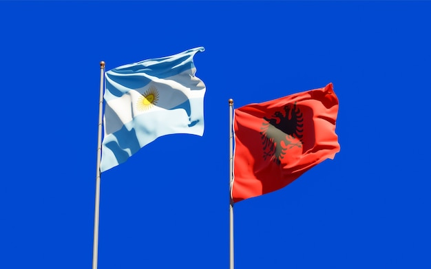 Bandiere di argentina e albania