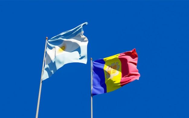 Bandiere di argentina e andorra