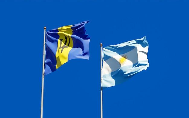 Bandiere di argentina e barbados