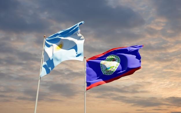 Bandiere di argentina e belieze