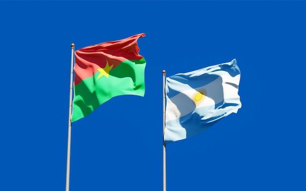 Bandiere di argentina e burkina faso.