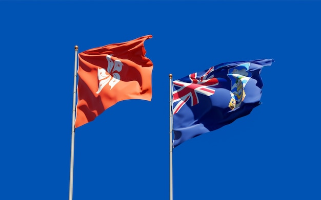 Bandiere delle isole falkland e hong kong hk