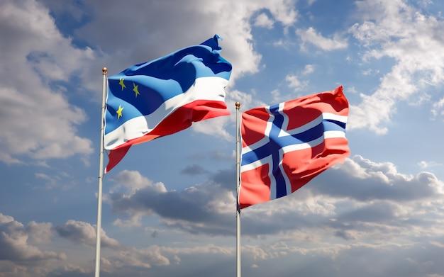 Bandiere della gagauzia e della norvegia