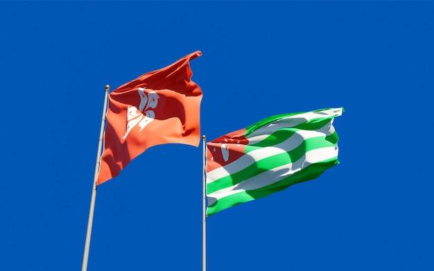 Bandiere di hong kong hk e abkhazia