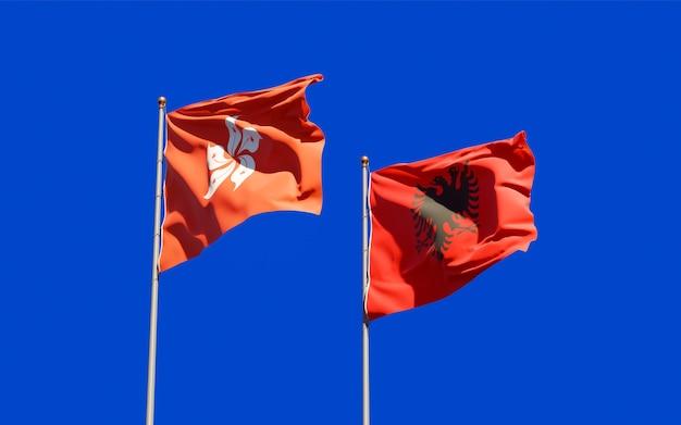 Bandiere di hong kong hk e albania