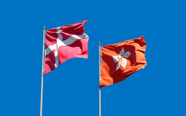 Bandiere di hong kong hk e hong kong hk