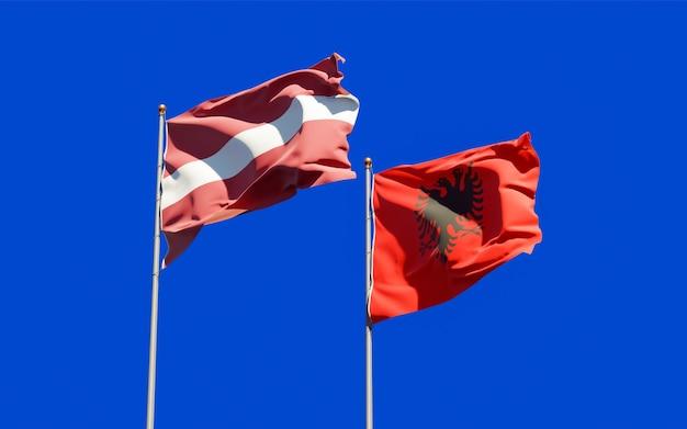 Bandiere di lettonia e albania.