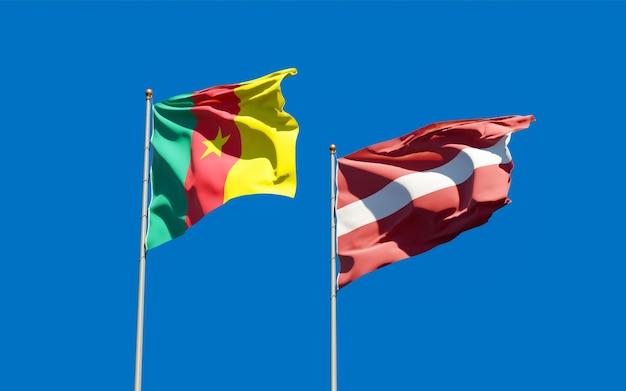 Bandiere di lettonia e camerun