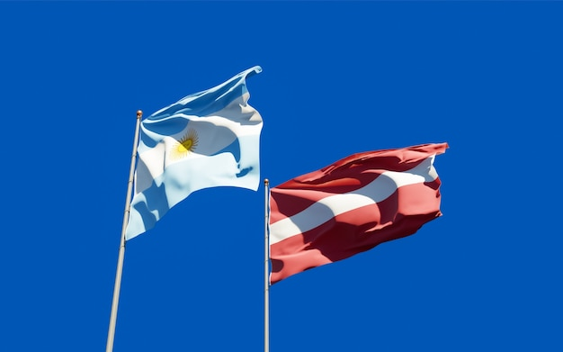 Bandiere di lettonia e lettonia.