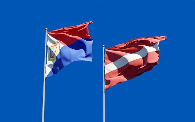 Bandiere di sint maarten e lettonia