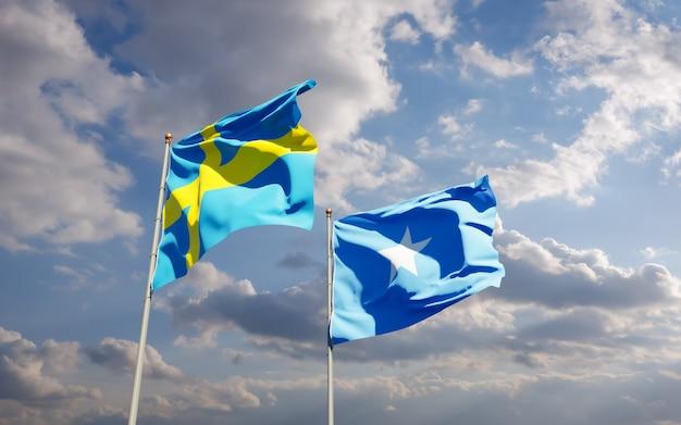 Bandiere di somalia e svezia