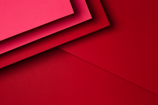 Assortimento piatto laici di sfondo di fogli di carta rossa
