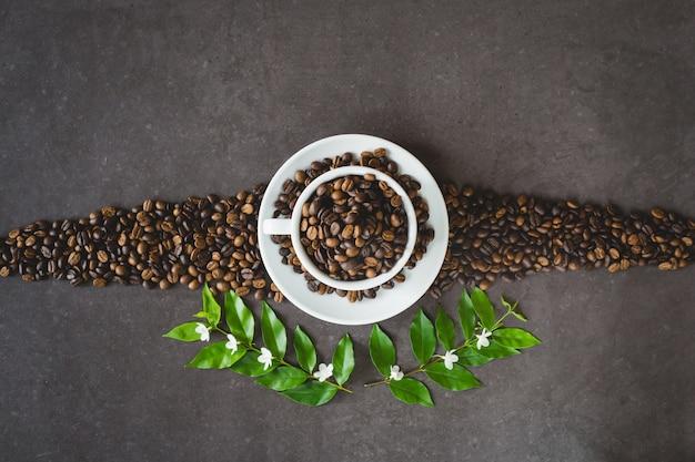 Chicco di caffè piatto