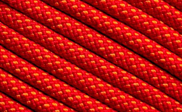Primo piano dell'assortimento di texture di corda piatta