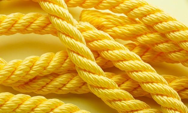 Primo piano della composizione della trama della corda piatta