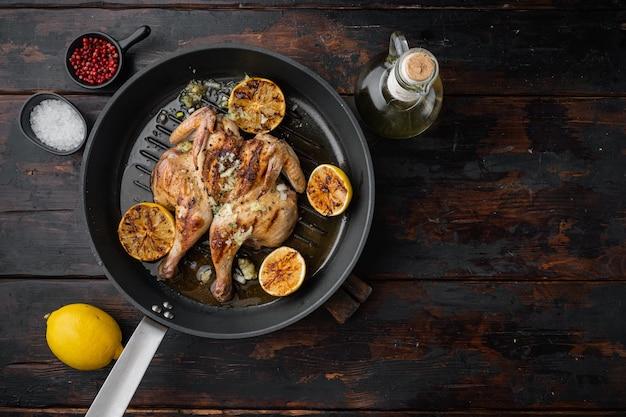 Pollo intero al forno appiattito