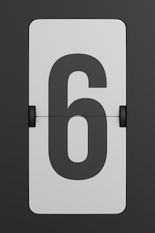 Capovolgere il numero del tabellone segnapunti nero. 3d
