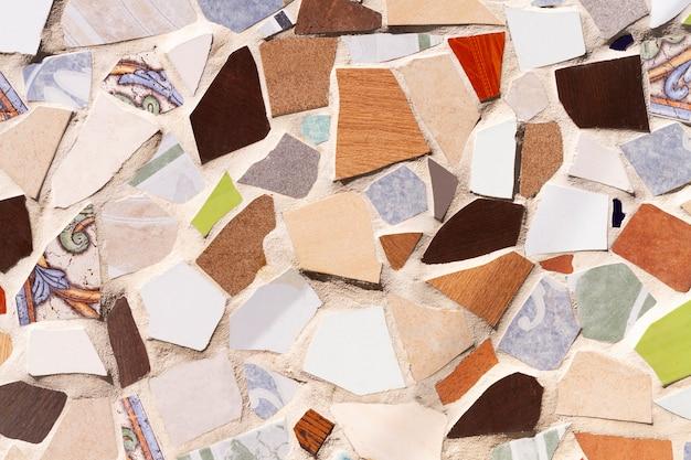 Pavimento in mosaico colorato sfondo