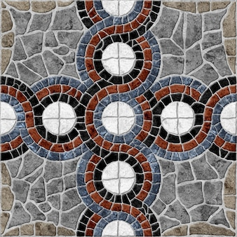 Piastrelle in pietra decorativa per pavimenti. texture di sfondo di pietra naturale colorata ..