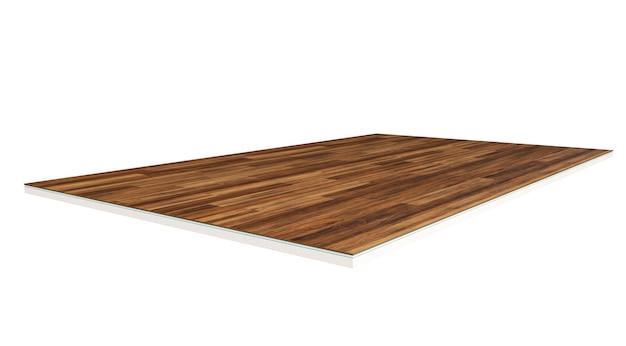 Strati del pavimento. pezzo di pavimento in linoleum. rendering 3d