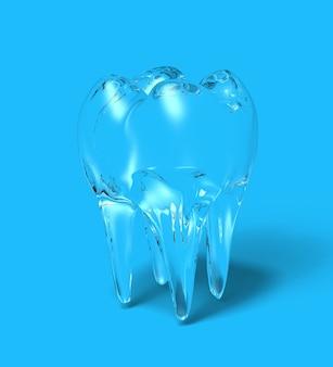 Cambiamento di flusso del latte alla forma dei denti, concetto di forza dalla bevanda