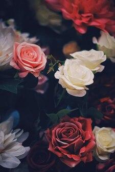 Disposizione dei fiori come sfondo decorazione floreale