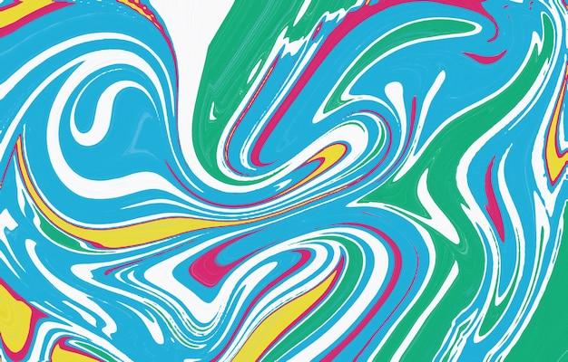 Colore fluido sfondo alla moda composizione di forme creative trama di marmo spruzzi di vernice colorato