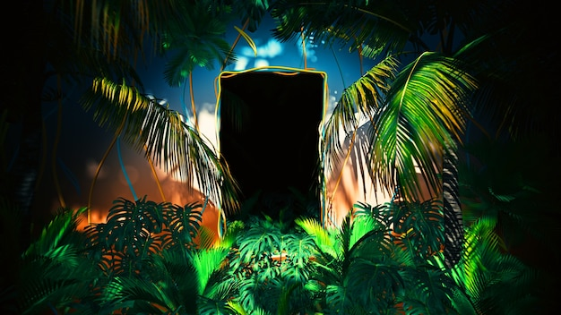 Flying in jungle for summer hawai per pubblicità e carta da parati nella natura e nella scena pubblicitaria