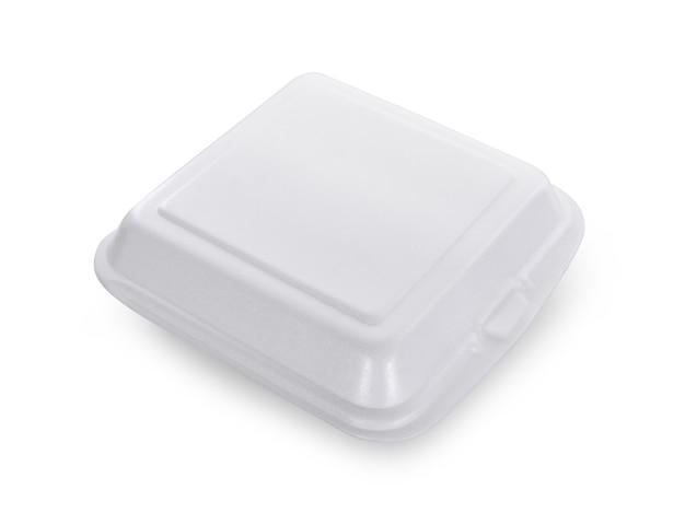 Scatola di schiuma isolati su sfondo bianco