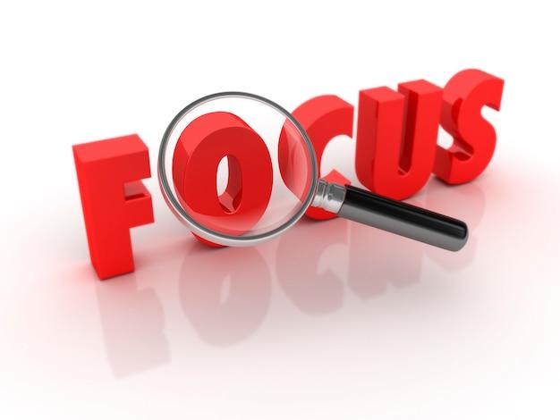 Focus word con lente d'ingrandimento