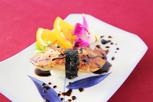 Sushi di foie gras