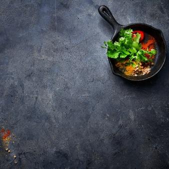 Ingredienti del concetto di cibo