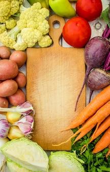 Cornice alimentare, mercato del cibo fresco.