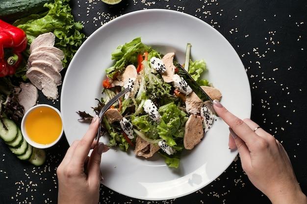 Arte della fotografia di cibo stile di vita sano. concetto di ricetta del pasto. nutrizione appropriata