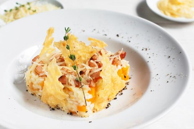 Cibo stagionale autunno menu ristorante cucina concetto culinario