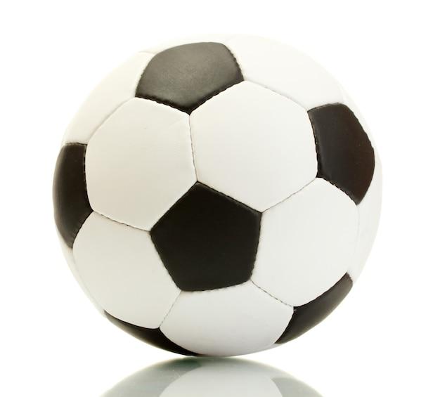 Pallone da calcio, isolato su bianco Foto Premium