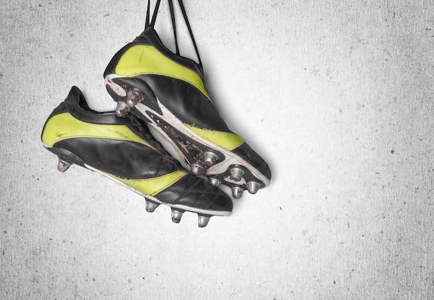 Scarpe da calcio. scarpe da calcio. isolato su sfondo