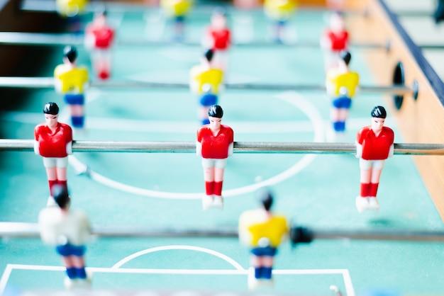 Gioco di calcio giocattolo di plastica da tavolo .sport in home concept