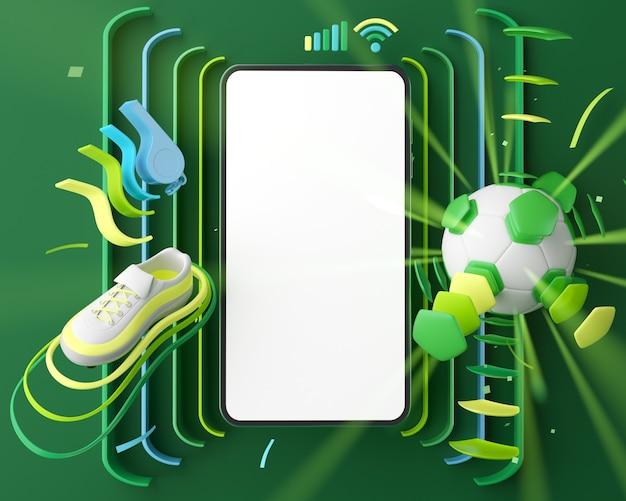 Smartphone di calcio 3d