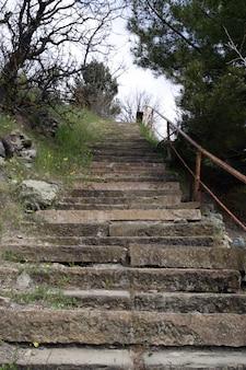 Orme della vecchia scalinata