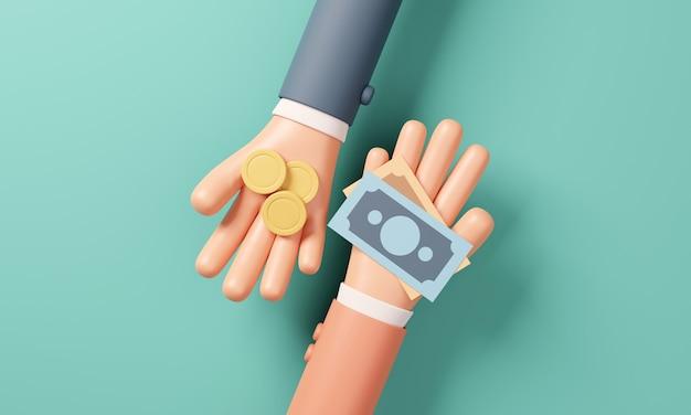 Operazioni di cambio in contanti di mano in mano