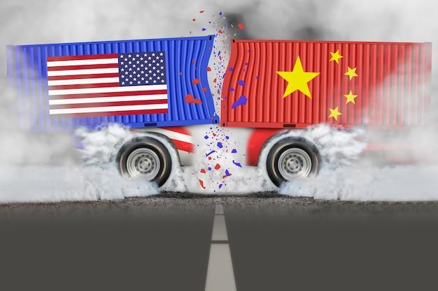 Guerra del commercio estero - commercio degli stati uniti con la cina