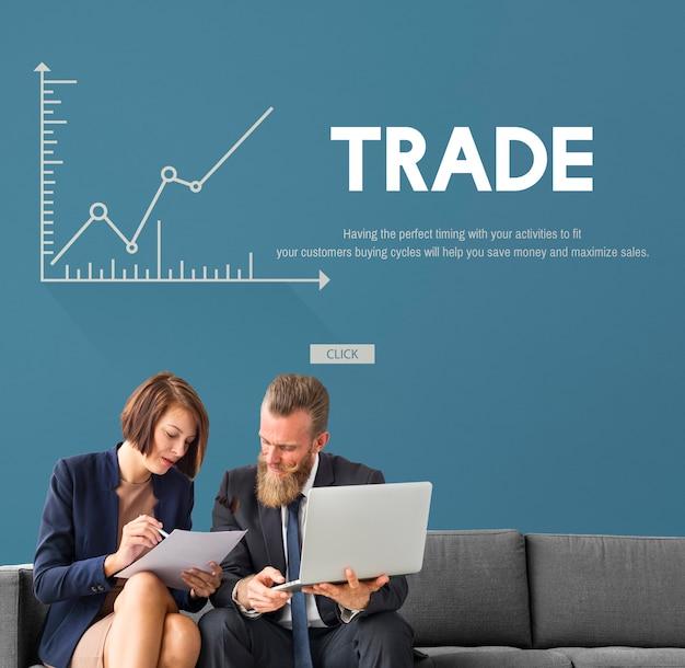 Investimento forex economia di mercato azionario commercio concept