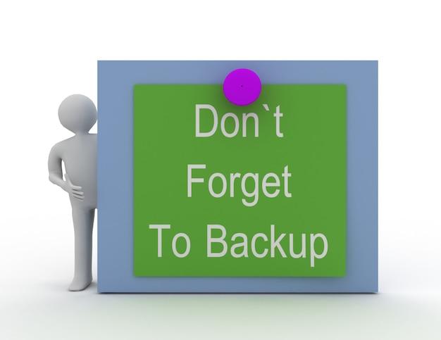 Non dimenticare il concetto di backup