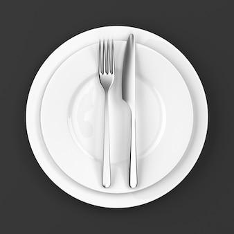 Forchetta e coltello con piatti