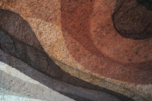 Forma di strati di terreno, colore e consistenza, strati di consistenza della terra, fondo del suolo earth